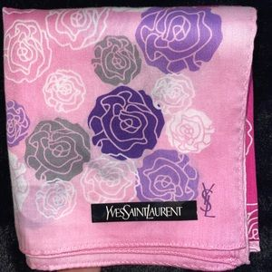 Yves Saint Laurent handkercheif/pocketsquare YSL